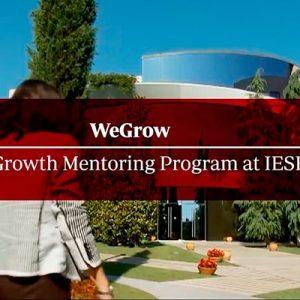 Aportando como mentor en el programa weGrow del IESE