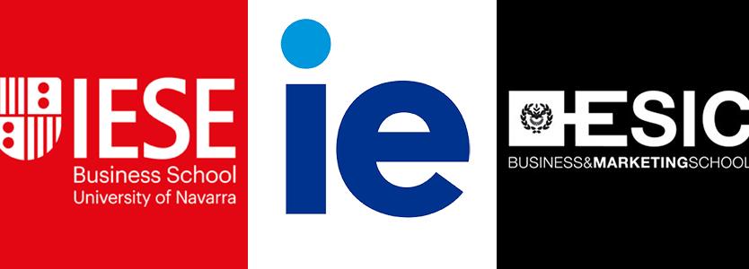 Logo IESE, IE y ESIC